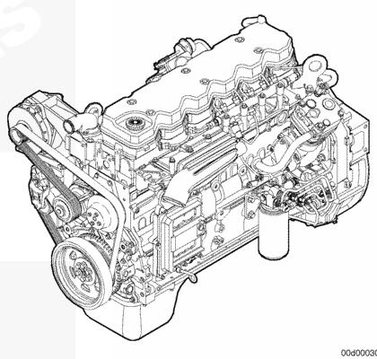 Схема двигателя Cummins 6ISBe