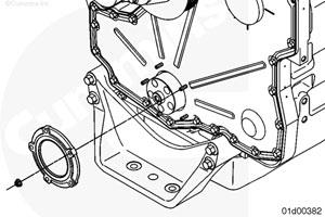 Передний сальник коленчатого вала двигателя Камминз