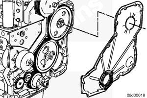 Крышка передних распределительных шестерен двигателя Cummins