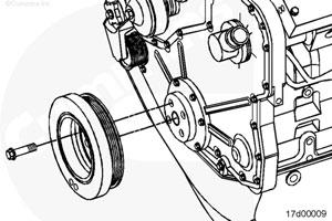 Гаситель крутильных колебаний двигателя Cummins